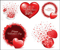 ++Romantische Valentinstag-Karten Vektor Material++