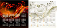 Mod��le de calendrier 2011 01 - Vecteur