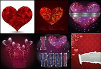 Mehrere romantische Liebe Muster Vektor Material