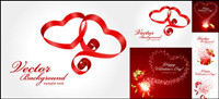 Valentinstag Band und Geschenk Vector