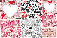 Super niedlichen Valentinstag Hintergrund Vector