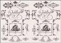 Europäische Hochzeit Muster Vektor Material