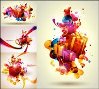Color�� cadeaux de Noël Vector