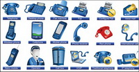 Communication facilities Icons - Vector