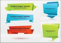 Effet origami Banner