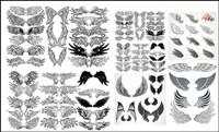 Eine Vielzahl von Fl��geln totem Vektor Material