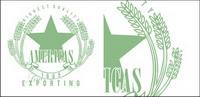 Le bl�� vert badges vecteur