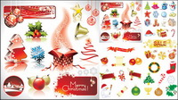 Christmas decorative elements vector