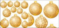 D��corations de Noël boule de neige Vector