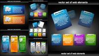 Diseño web material decorativo de vectores elementos -2