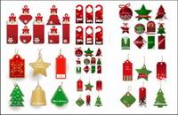 Weihnachtsgeschäft der Angebote Etikett Vektor