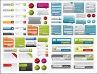 Une vari��t�� de design web ��l��ments mat��riels vecteur