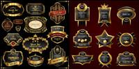 Europäischen Stil Golden Label Vector