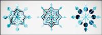 Nieve icono de estilo 02 - Vector