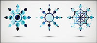 Icône de style de neige 01 - Vector