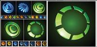 iconos gr¨¢ficos vectoriales circulares en tres dimensiones