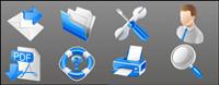 Azul iconos de negocios pr¨¢cticos - Material de vectores