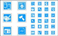 Blue Vector icônes de la technologie exquise - vecteur mat��riel