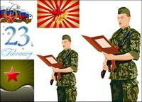 Étoile �� cinq branches et les militaires