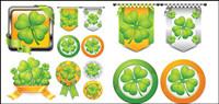 Clover Thema Textur Vektor Material