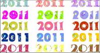 2011 digitale Vektor-Material