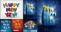 Happy New Year, en trois dimensions Vector