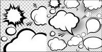 Capa de nube de hongo de dibujos animados al estilo 02 - Vector