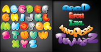 cartoon letters  - Vector material