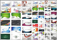 24 schöne und praktische Visitenkarteschablone - Vektor-Material