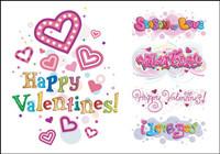 Happy Valentinstag Vektor Material Wortkunst