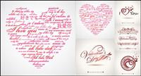 Valentinstag Word Art Grafik Vektor Material