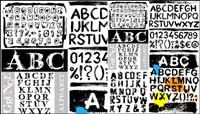 Letras de tinta - vector de material