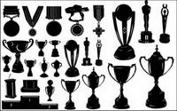 Medaillen und Trophäen Silhouette Vector