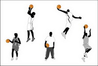 Baloncesto figuras de acci��n y vectores