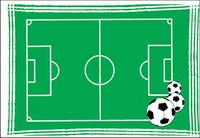 Plan football Vector