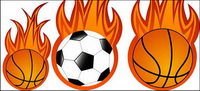 Le football et le basket-ball vecteur de flamme