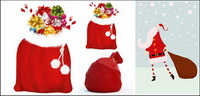 Santa Claus et sacs-cadeaux - Vector