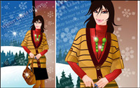 winter woman vector 9