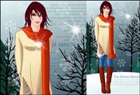 Winter Frauen Vektor 8