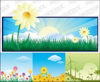Belle illustration th��me des fleurs