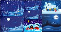 La nuit de Noël Vector