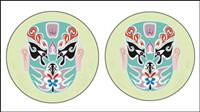 Chinoise traditionnelle masque vectoriel