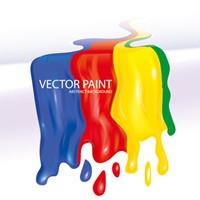Pigments Flowing 01 - Vector