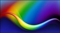 Colorful la ligne de flux dynamique 04 - Vector