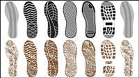 Eine Vielzahl von feinen Schuhabdruck 03 - Vektor Material