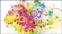 Brilliant dynamischen Elemente der Trend 04 - Vektor Material