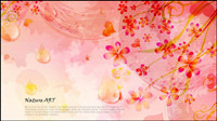 Romantique fond floral design pattern vecteur mat��riel -5