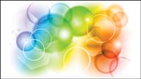 Burbujas de colores de fondo - vector de material