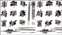 Reifenbremse gedrucktes Material 01 - Vector