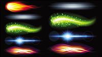 Superbe effets ��clairage lumineux 05 - mat��riel vecteur